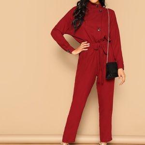 Pants - Red jumpsuit